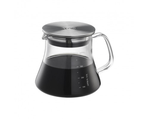 Glass Coffee Server - Stainless Steel Lid