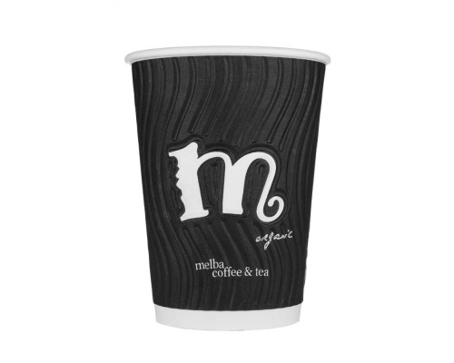 Melba 3D Double Wall Take Away Cups - 12 OZ (500 pack)
